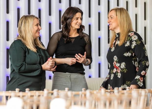 Chelsea women's manager Emma Hayes, Wexford hurling coach Mags D'Arcy and England netball coach Tracey Neville at the Liberty Insurance 'Women in Sport: The Coaching Effect' symposium.Photo: Naoise Culhane