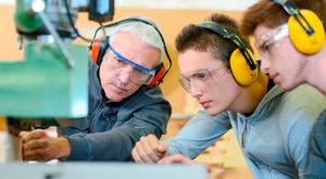 The renewed attraction of the building trades is obvious, with 1,486 new apprentices last year, compared with 914 in 2016'. Stock image