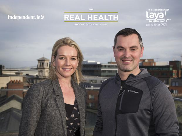 Claire Byrne joins Karl Henry on the Real Health Podcast