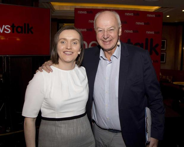 Newstalk Managing Editor Patricia Monahan with presenter Bobby Kerr. PIC: Fennell