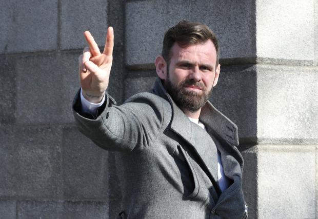 Jonathan McSherry, pictured leaving the Four Courts after a High Court action taken against him by his former partner, Jessica Bowes.Pic: Collins Courts