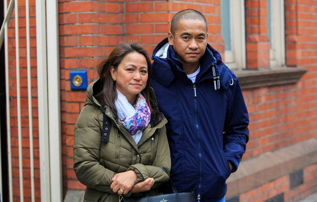 Michaela's parents Yvonne and Michael, outside the inquest. Photo: Collins