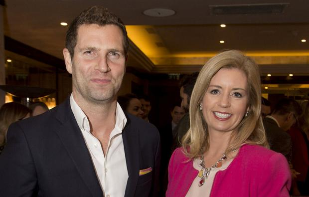 New line up: Newstalk presenters Jonathan McCrea and Sinéad Ryan at the launch of the new weekend schedule. Photo: Colm Mahady/Fennell Photography