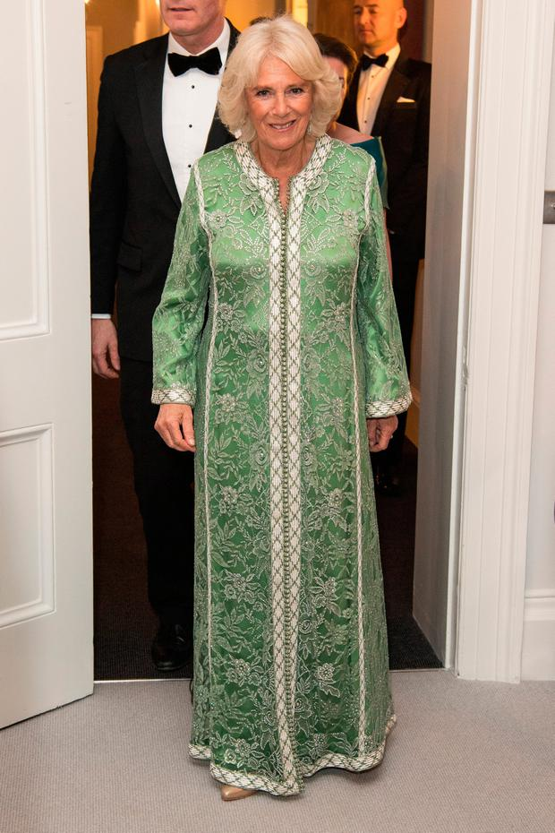 Camilla, Duchess of Cornwall attends a dinner to mark St Patrick's Day and celebrate UK-Irish relations on March 06, 2019 in London, United Kingdom. (Photo by Jeff Spicer/Getty Images)