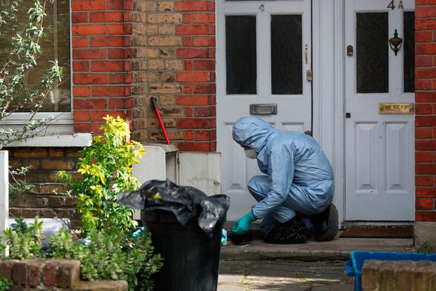 Police activity at a property on Darell Road in Kew, south-west London where the body of Laureline Garcia-Bertaux, 34, from Richmond, was found in a shallow grave in the garden. Photo: Steve Parsons/PA Wire
