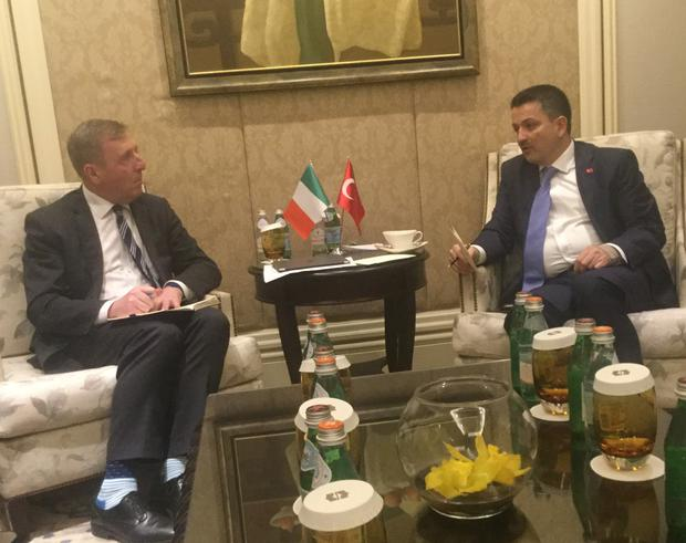 Minister Michael Creed with Dr Bekir Pakdemirli Minister for Agriculture and Forestry