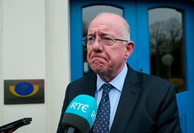 Justice minister Charlie Flanagan at the Department of Justice in Dublin following a meeting with Clodagh Hawe's mother Mary Coll and her sister Jacqueline Connelly. Photo: Brian Lawless/PA Wire