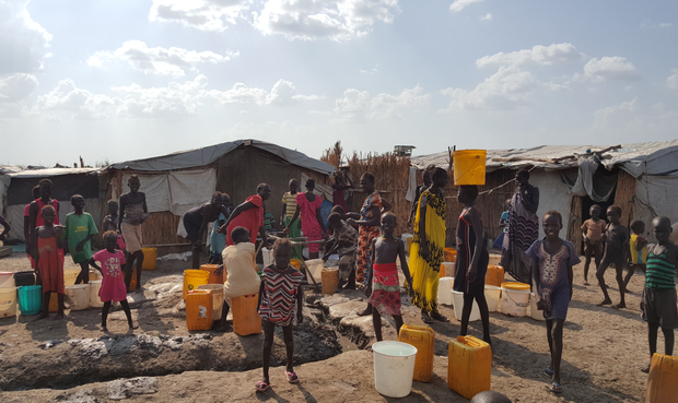 A community in South Sudan where Médecins Sans Frontières is working.