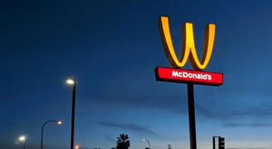 The McDonald's 'M' logo was turned upside down in honour of International Women's Day in Lynwood, California last year