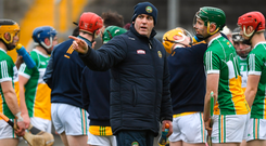 Offaly hurling boss Kevin Martin will look to his players to deliver a big performance against Carlow and avoid relegation. Photo: Sportsfile