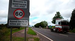 If a no-deal Brexit takes place, any driver with an Irish-registered vehicle driving to the UK, including Northern Ireland, will require a internationally recognised insurance document. Photo: PA