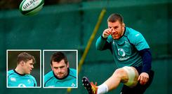 Sean O'Brien is axed as (inset) Garry Ringrose and CJ Stander get the nod
