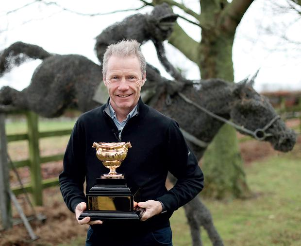 Mick with the Gold Cup
