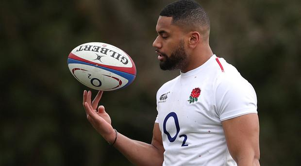 England's Joe Cokanasiga during training. Photo: Action Images via Reuters/Peter Cziborra