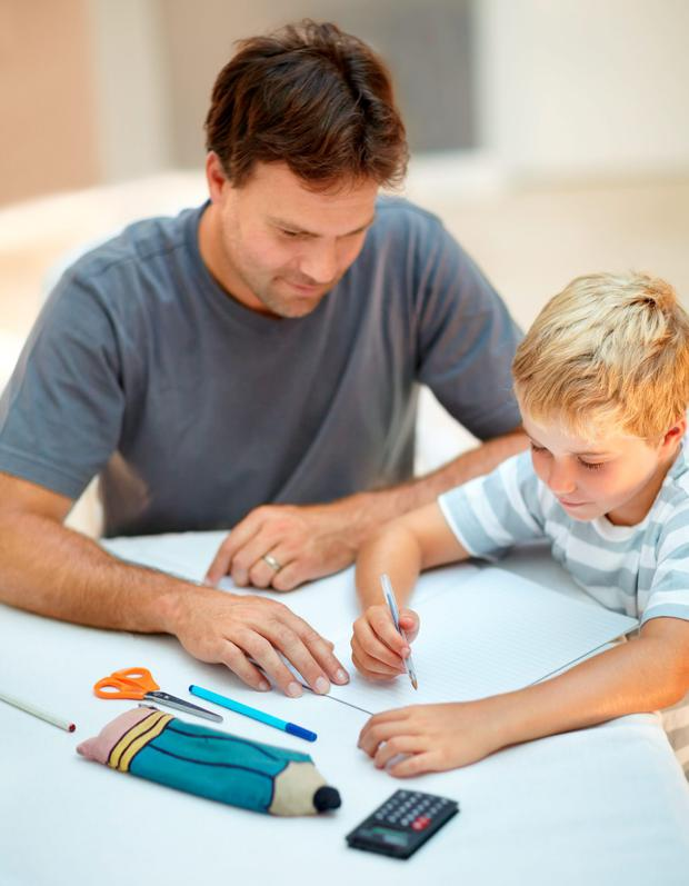 A recent study found most parents struggle to help children as young as seven with their homework. Stock image: Getty