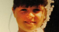 Innocent: Lisa Smith making her First Communion. Picture: Independent.ie