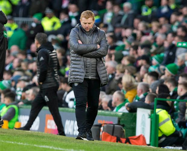 CelticÄôs manager Neil Lennon during the Ladbrokes Scottish Premiership match at Celtic Park, Glasgow. PRESS ASSOCIATION Photo. Picture date: Saturday March 9, 2019. See PA story SOCCER Celtic. Photo credit should read: Jeff Holmes/PA Wire.