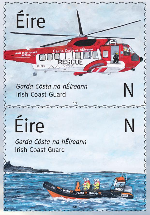 An Post stamps honouring Irish Coast Guard