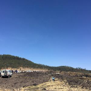 A general view shows the scene of the Ethiopian Airlines Flight ET 302 plane crash, near the town of Bishoftu, southeast of Addis Ababa, Ethiopia March 10, 2019. REUTERS/Tiksa Negeri