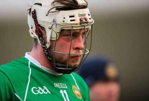 Sean Dolan of Offaly following the Allianz Hurling League Division 1B Relegation Play-off match between Offaly and Carlow at Bord na Móna O'Connor Park in Tullamore, Offaly. Photo by Eóin Noonan/Sportsfile