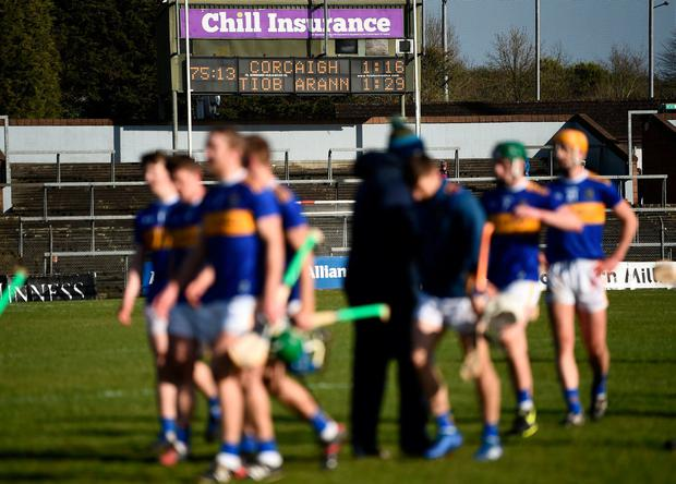 The scoreboard showing a 13 point victory for Tipperary over Cork at Páirc Uí Rinn. Tipperary will play Dublin at Semple Stadium in the quarter-finals next weekend. Photo: Stephen McCarthy/Sportsfile