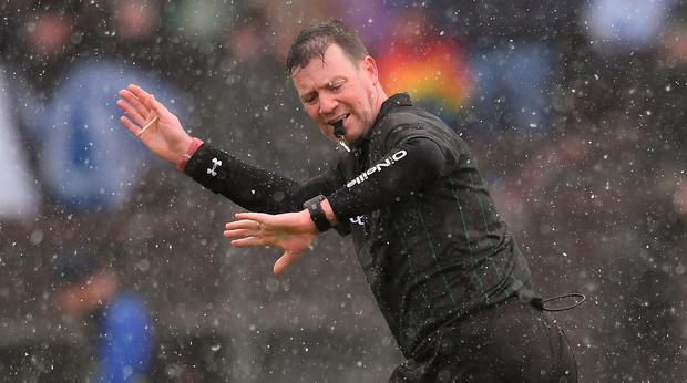 Referee David Hughes in action at Walsh Park, Waterford. Photo: Piaras Ó Mídheach/Sportsfile
