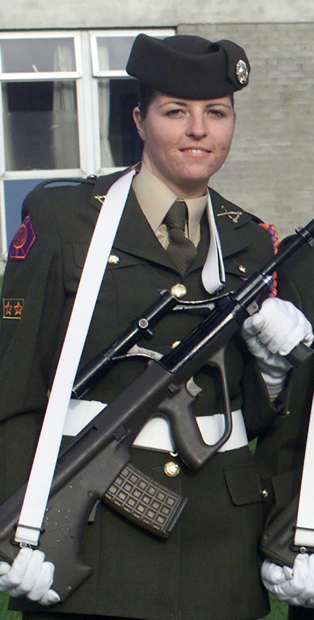 Lisa Smith during her days as a member of the Defence Forces