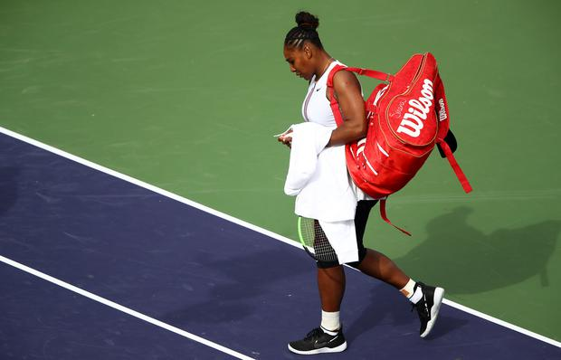 Serena Williams leaves BNP Paribas Open early with viral illness