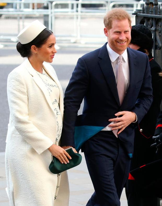 Meghan, Duchess of Sussex and Prince Harry, Duke of Sussex attend the Commonwealth Service on Commonwealth Day at Westminster Abbey on March 11, 2019 in London