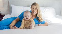 Aoibhin Garrihy with baby daughter Hanorah for VIP Magazine. Picture: Lili Forberg/VIP Magazine