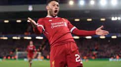 Liverpool manager Jurgen Klopp says Alex Oxlade-Chamberlain's knee stood up to his comeback in the Under-23s and he was only substituted due to a minor hamstring issue (Peter Byrne/PA Images).