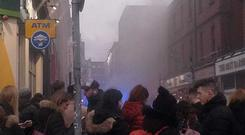 The scene of the fire in Temple Bar