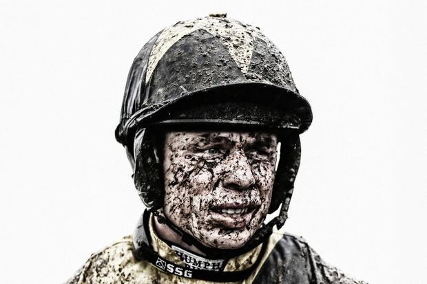 Mud, sweat and cheers: Denis O'Regan, pictured here at Prestbury Park in 2017, has enjoyed his share of success at Cheltenham. Photo by Alan Crowhurst/Getty Images