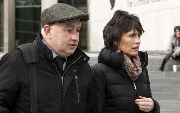 Trial: Patrick Quirke leaves court with his wife Imelda. Photo: Collins Courts