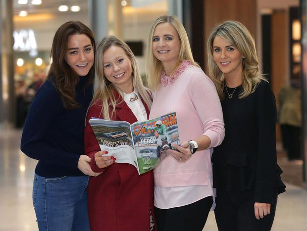 Racing ahead: From left, Orla Murray, Maggie Cleland, Kim Tully and Niamh McKenna, at Dublin Airport. Photo: Damien Eagers/INM