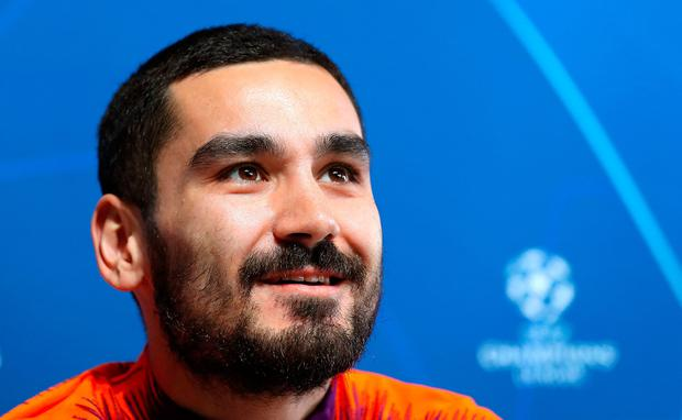 """Gundogan: """"There is no decision yet – otherwise I would have signed or rejected a contract."""" Photo: Martin Rickett/PA Wire"""