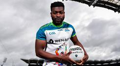 Boidu Sayeh moved to Ireland from Liberia after being adopted by his aunt and uncle when he was eight years old. Photo by Eóin Noonan/Sportsfile