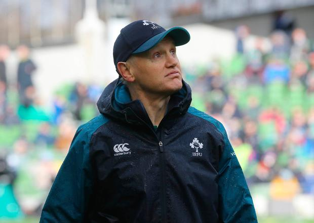 Joe Schmidt: 'I think you've got to put 80 minutes together in Cardiff and I think that's a really good point. We have to extend that high-performance period right through the game.' Photo: Lorraine O'Sullivan/PA Wire