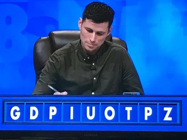 Bohs star Dinny Corcoran on the set of Countdown