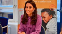 Britain's Catherine, Duchess of Cambridge visits the Henry Fawcett Children's Centre in London on March 12, 2019. (Photo by Arthur Edwards / various sources / AFP)