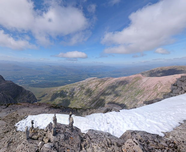 Several climbers are feared to have been caught up in an avalanche on Ben Nevis Photo: Google Maps