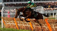 Espoir D'Allen ridden by Mark Walsh during the 3:30 Unibet Champion Hurdle Challenge Trophy race Action Images via Reuters/Matthew Childs