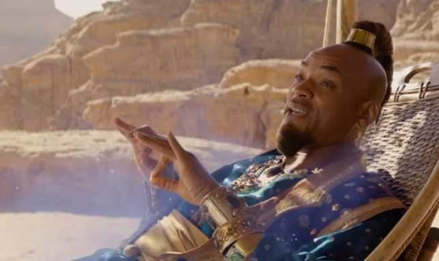 Will Smith as the Genie in Disney's Aladdin
