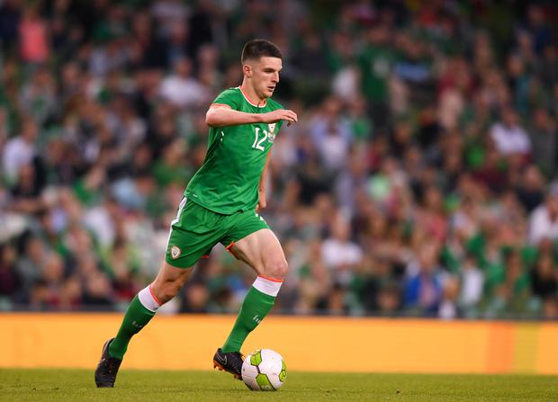 Declan Rice has been named the FAI Young Player of the Year. Photo by Eóin Noonan/Sportsfile