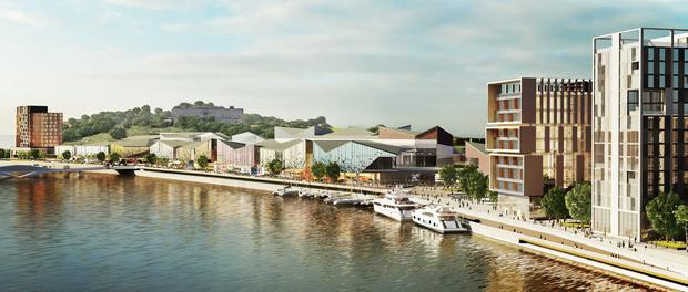 An artist's impression of the new Waterford North Quay development