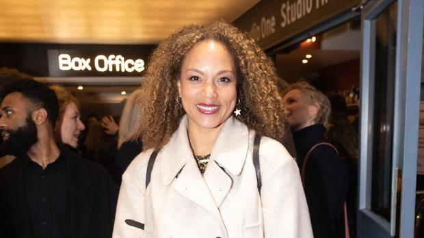 Angela Griffin arrives at the press night of Admissions (Phil Tragen/PA)