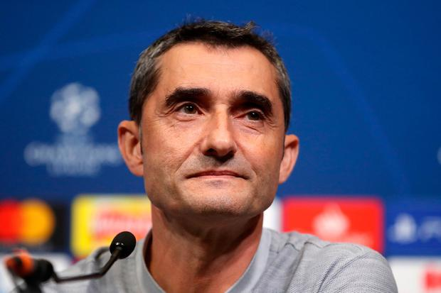 Barcelona manager Ernesto Valverde. Photo: PA