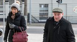 Trial: Patrick Quirke with his wife Imelda arriving at court as the case continued. Photo: Mark Condren