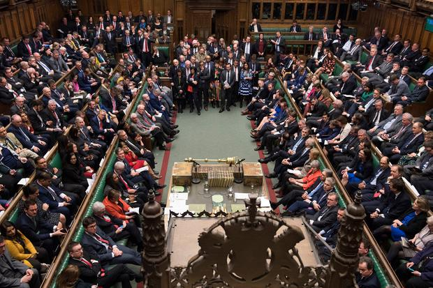 MP's in the House of Commons, London before the result of a Brexit deal vote where they rejected the Government's Brexit deal by 391 votes to 242. Photo: UK Parliament/Mark Duffy/PA Wire