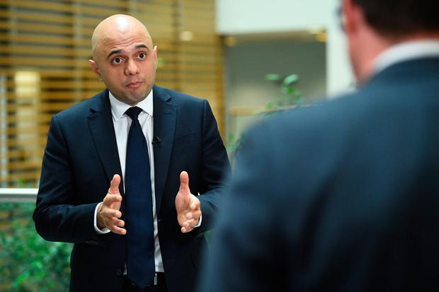 UK Home Secretary Sajid Javid. Photo: PA
